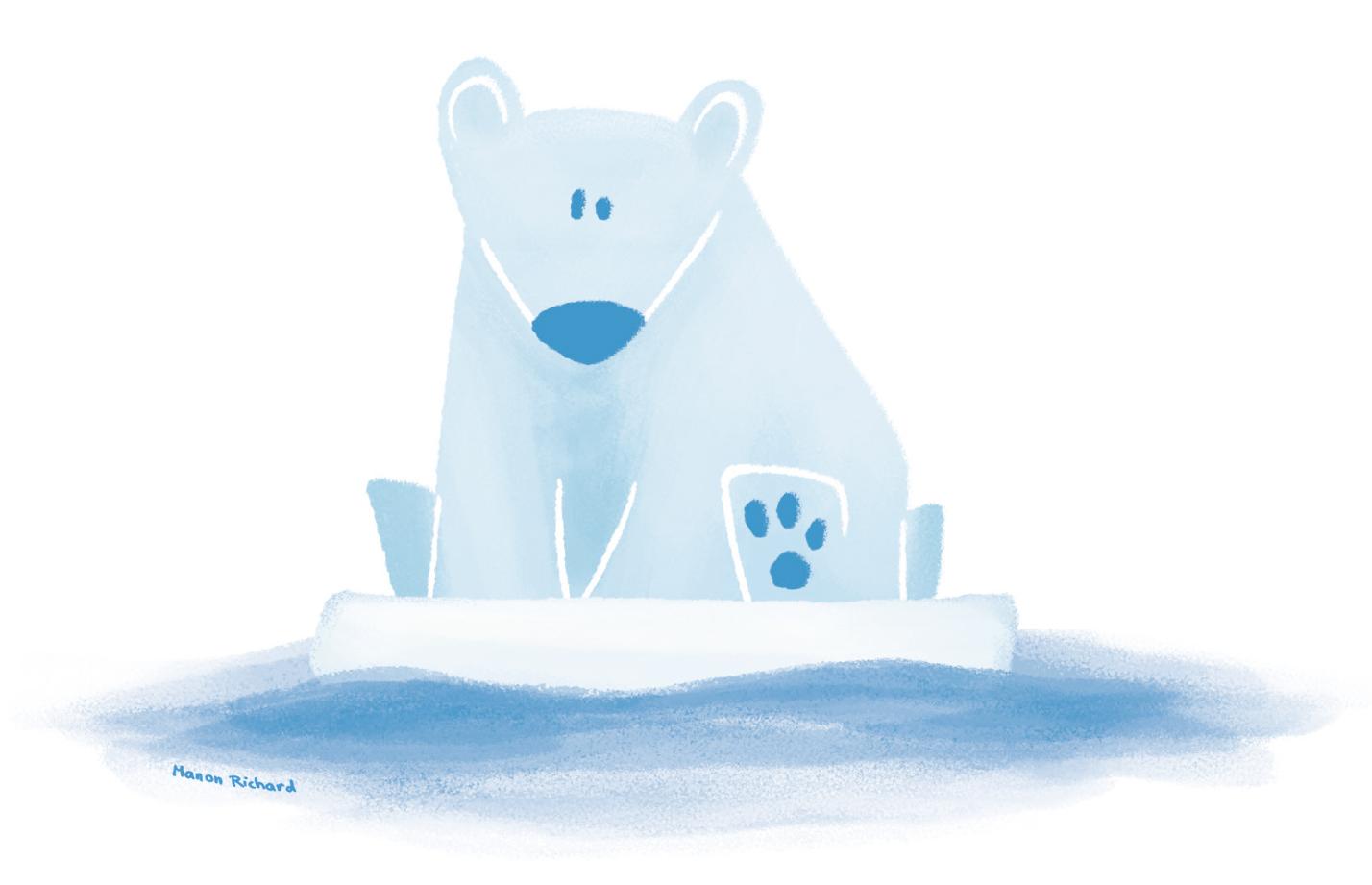 L'ours blanc et l'or bleu
